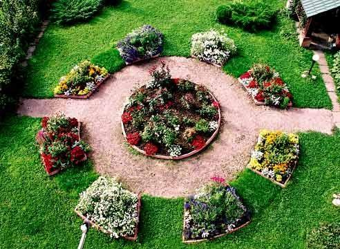 Interesting Design of the Flowerbeds