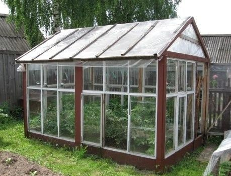 Glass Greenhouse with Their Hands