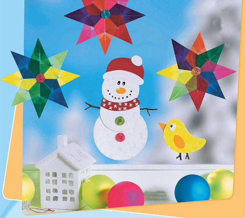 Figurines for Home and Garden With Their Hands: Snowmen and Santa Claus