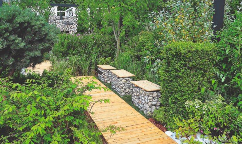 Interesting Decor: Garden Ottoman-Gabion