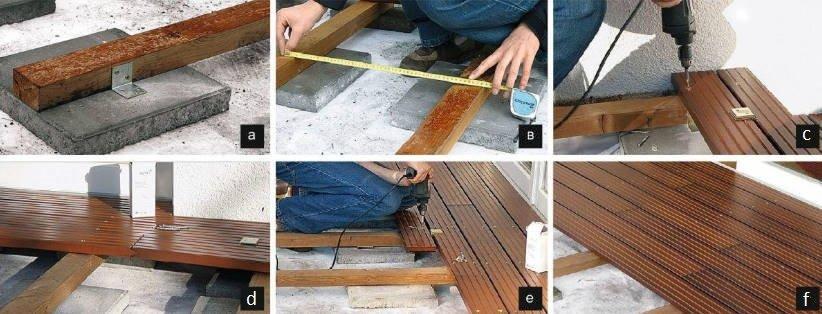 Terraced motives the device is weatherproof wooden floors
