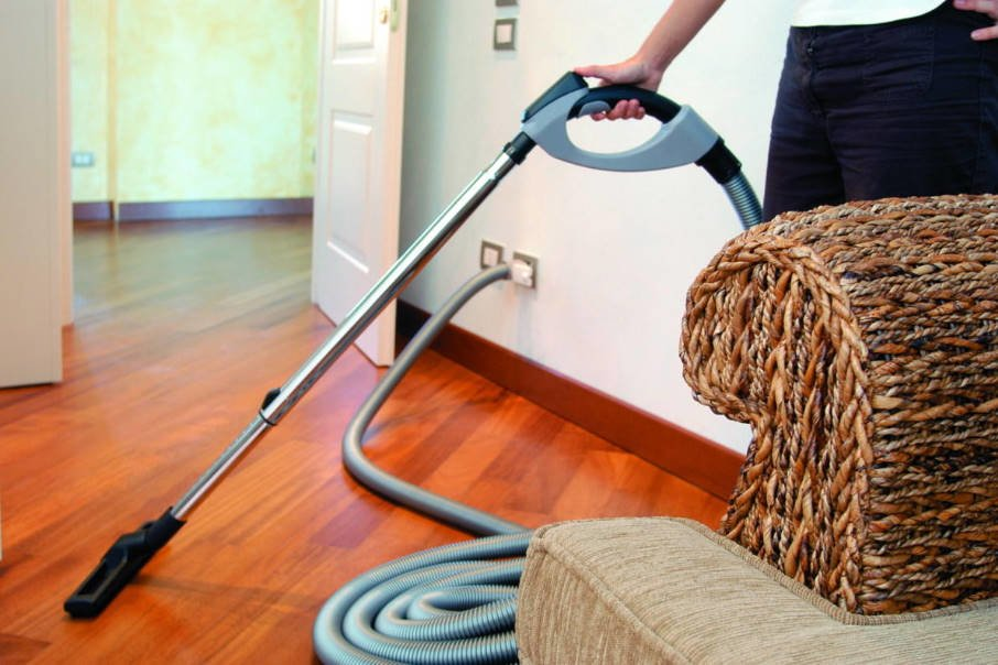New Trends: Built-In Vacuum Cleaner in a Wooden House