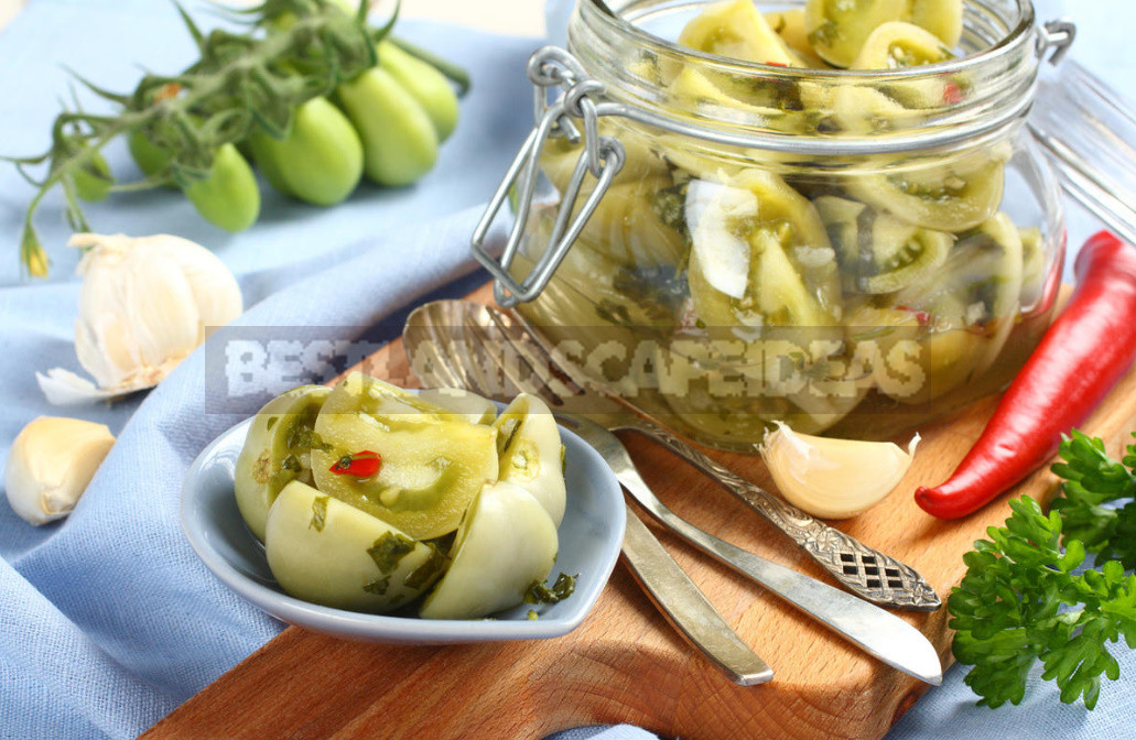 How to salt green tomatoes. Simple and fast recipe 1 - How to Salt Green Tomatoes. Simple And Fast Recipe