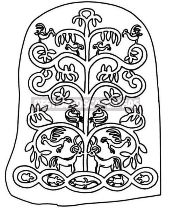 Plant Symbols: Mistletoe, Lily And World Tree