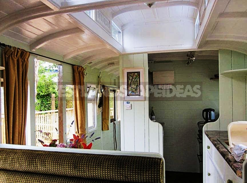 Trailer Cottage in an Old Train Car
