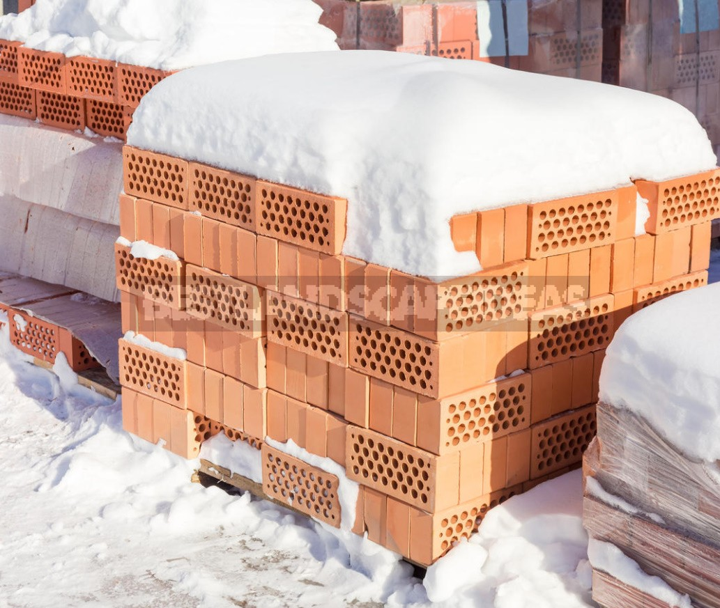 Winter Storage Of Construction Materials On The Site