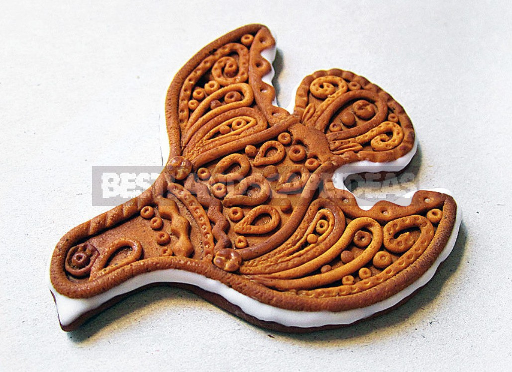 Christmas Decorations Made Of Polymer Clay: Gingerbread