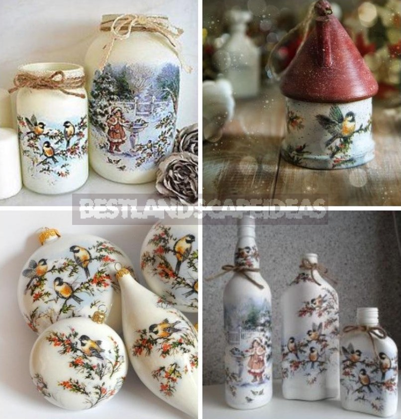 New Year's Decoupage: Ideas For Transforming Ordinary Objects