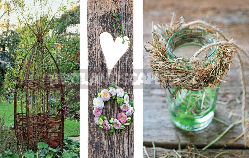 Decoration Of The Plot With Crafts Made Of Branches, Vines And Grass. Beautiful And Practical Ideas