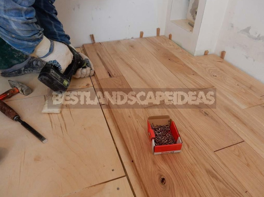 Laying a Wooden Floor On Logs And Slabs With Your Own Hands