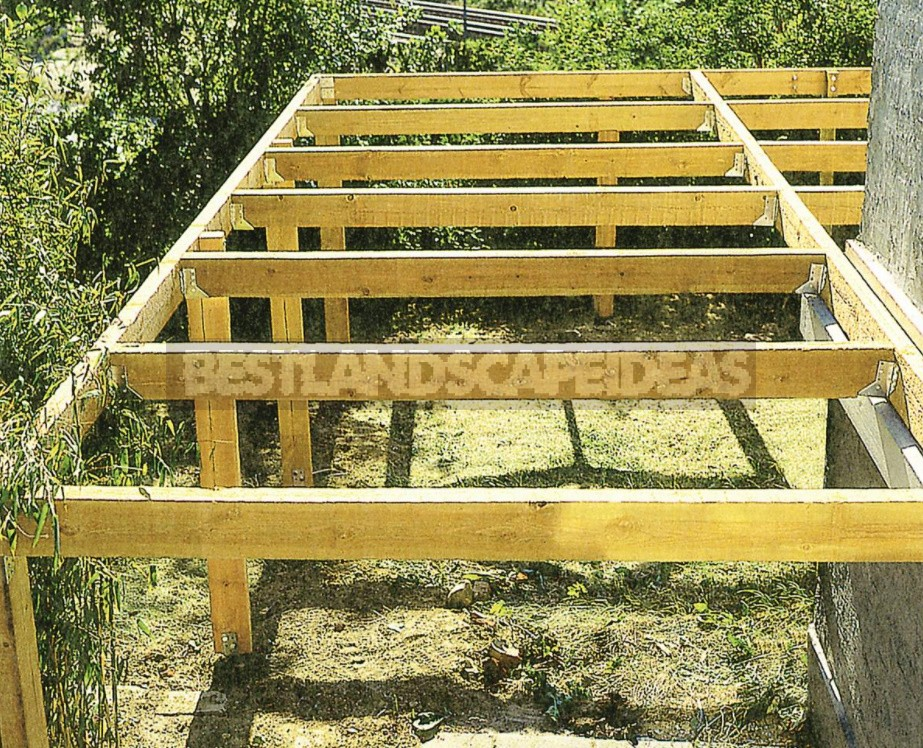 Building An Open Terrace On a Frame Base: Detailed Instructions