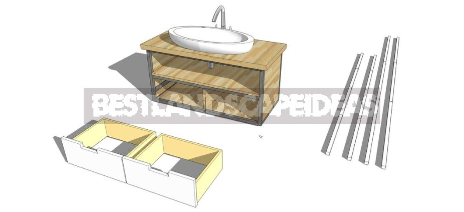 Table Under The Sink In The Bathroom With Your Own Hands: Instructions