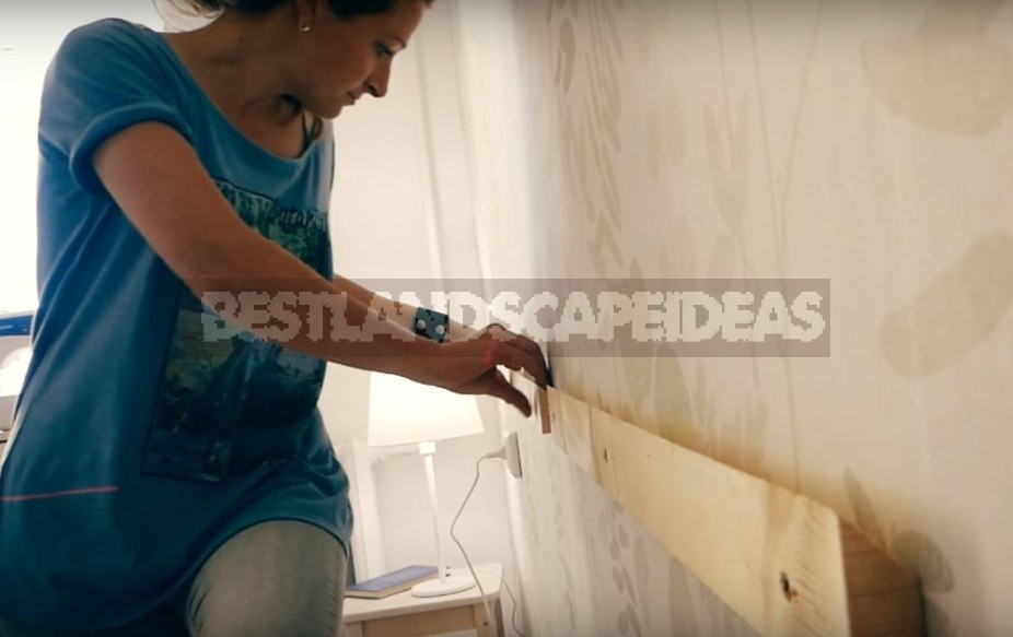 We Make a Headboard For The Bed From Scraps Of Boards