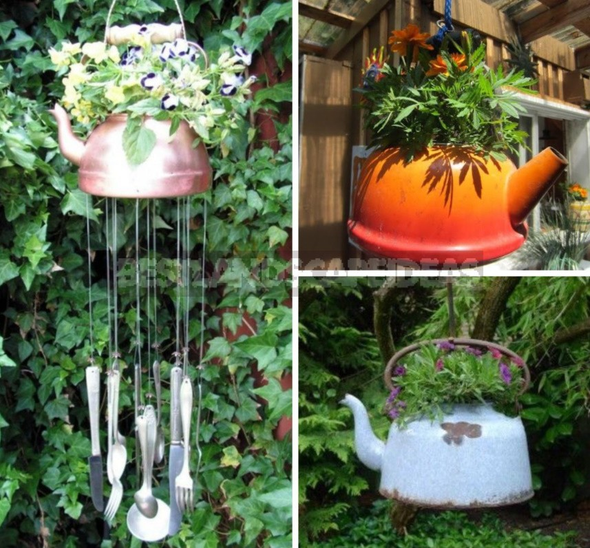 Spectacular Hanging Planters Made Of Improvised Materials